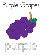 Purple Grapes Coloring Page