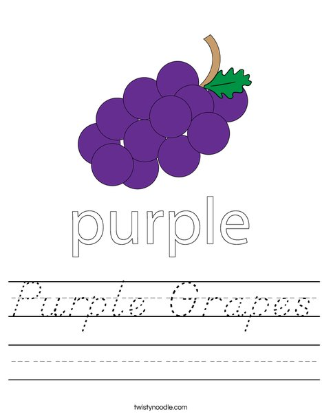 Purple Grapes Worksheet