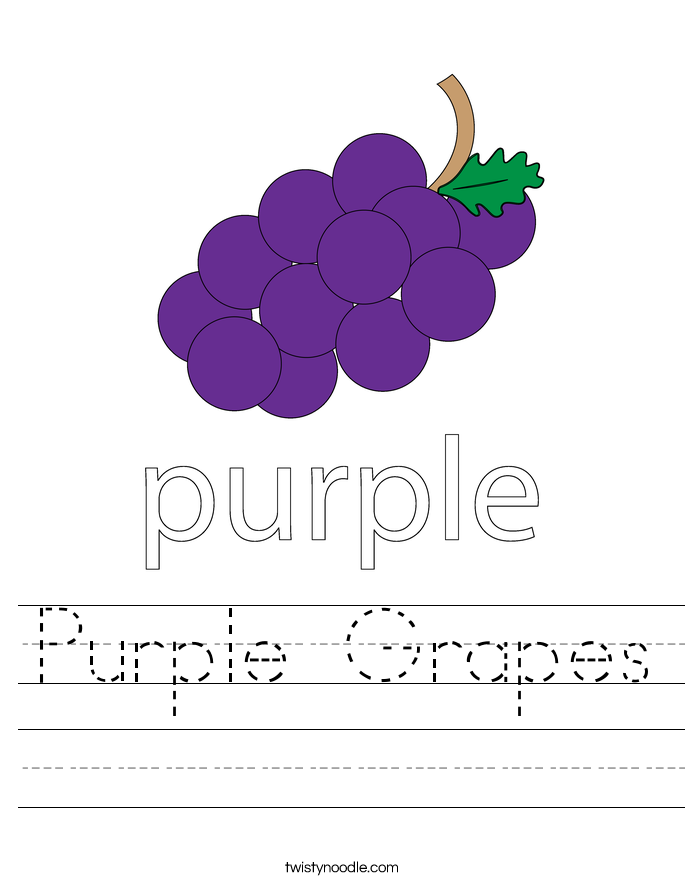 purple grapes worksheet twisty noodle. Black Bedroom Furniture Sets. Home Design Ideas