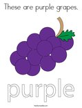 These are purple grapes. Coloring Page