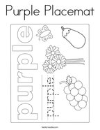 Purple Placemat Coloring Page