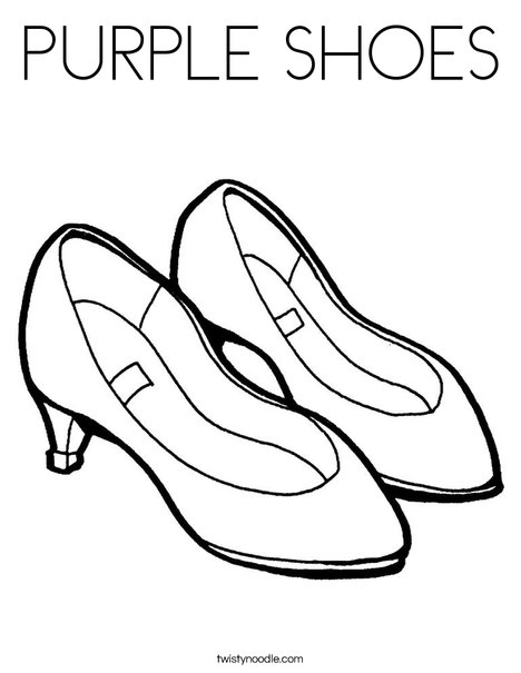 Purple Shoes Coloring Page