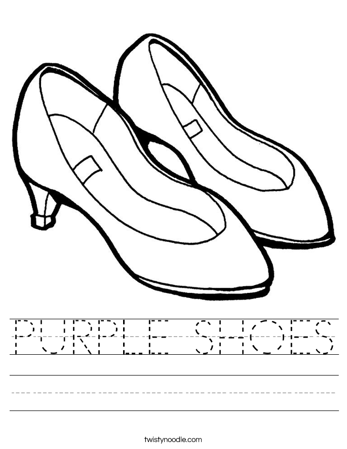 Purple Shoes Worksheet Twisty Noodle