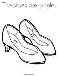 The shoes are purple.Coloring Page