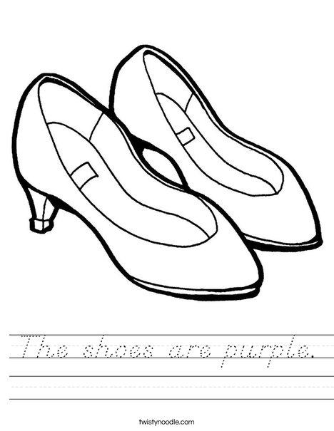 Purple Shoes Worksheet