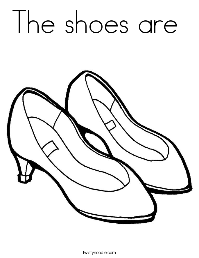 The shoes are  Coloring Page