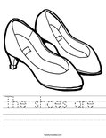 The shoes are  Worksheet