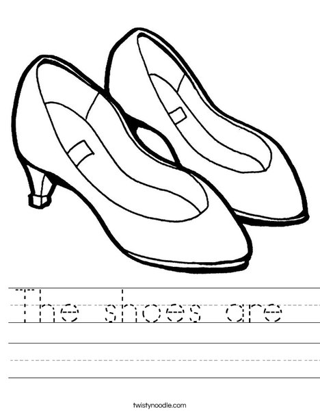 Purple Shoes Worksheet