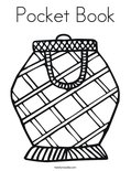 Pocket Book Coloring Page