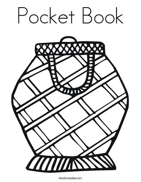 Pocket Book Coloring Page