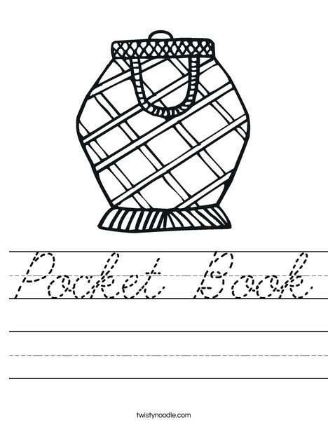 Pocket Book Worksheet