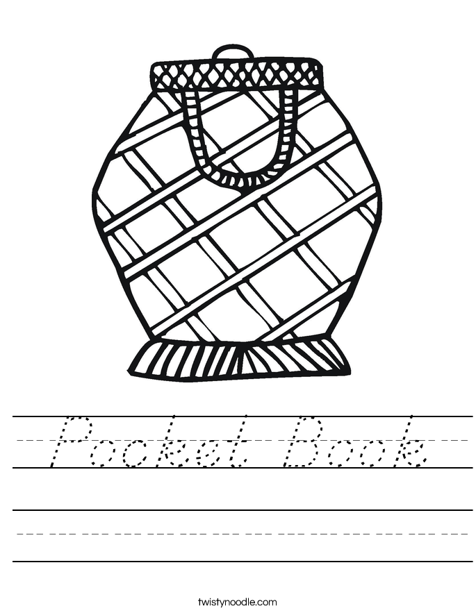 Pocket Book Worksheet