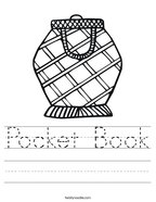 Pocket Book Handwriting Sheet