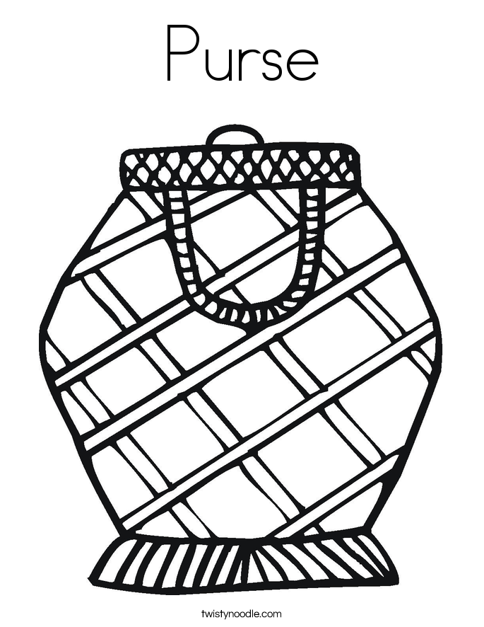 Purse Coloring Page