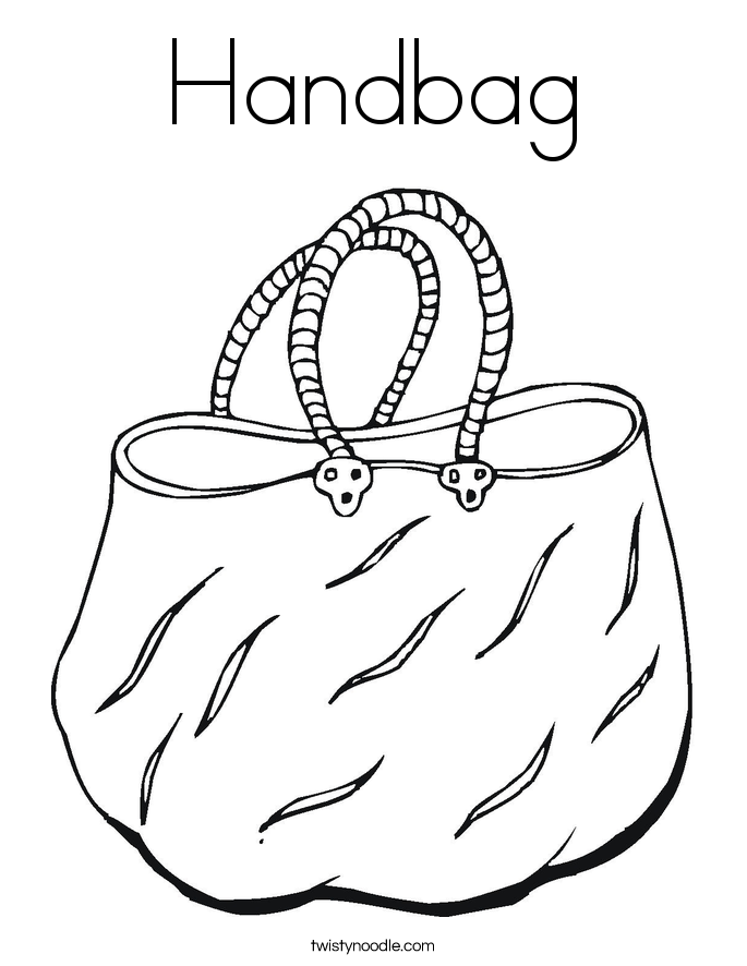 It's just a picture of Geeky Purse Coloring Page