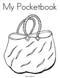 My Pocketbook Coloring Page