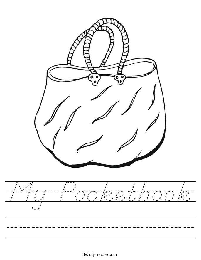 My Pocketbook Worksheet