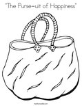 """The Purse-uit of Happiness"" Coloring Page"