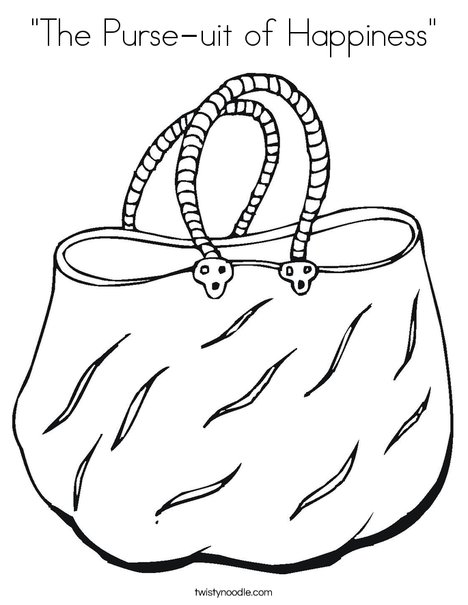 Purse Coloring Pages Printable