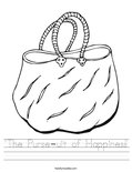 """The Purse-uit of Happiness"" Worksheet"