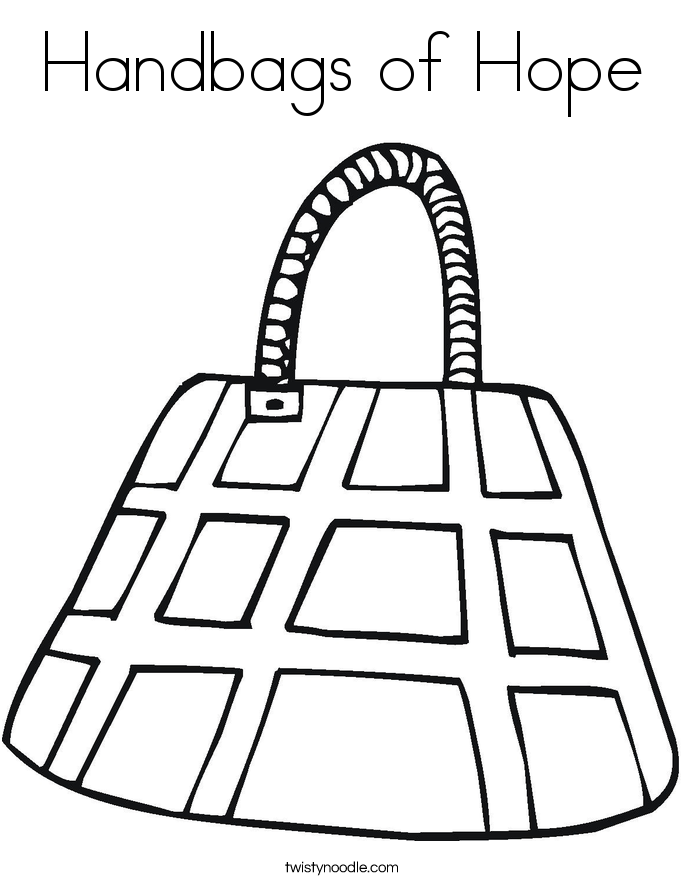 Handbags of Hope Coloring Page