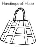 Handbags of HopeColoring Page