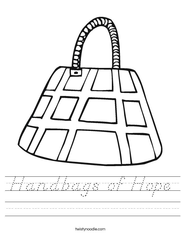 Handbags of Hope Worksheet