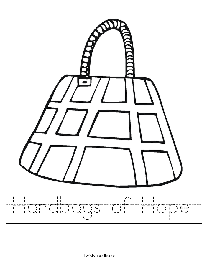Handbags of Hope Worksheet