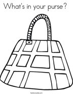 What's in your purse  Coloring Page