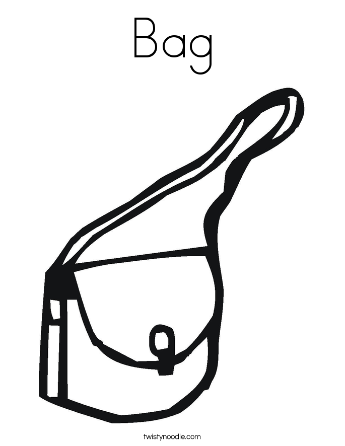 Bag Coloring Page