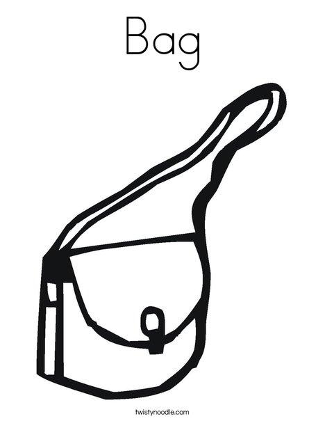 bag coloring page twisty noodle