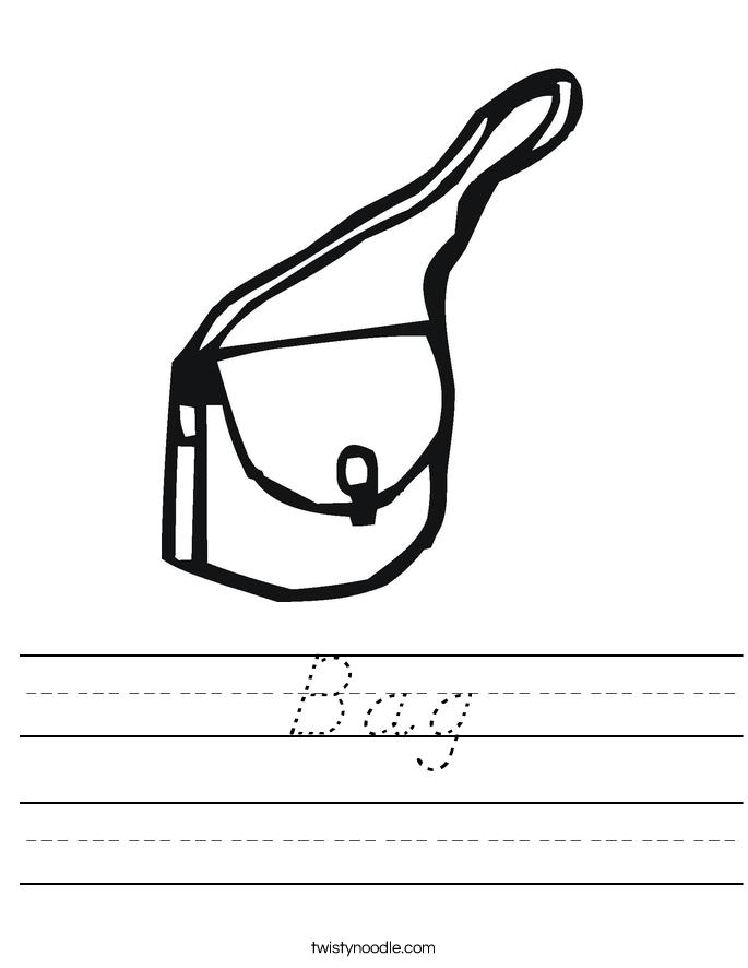 Bag Worksheet