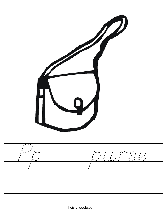 Pp     purse Worksheet