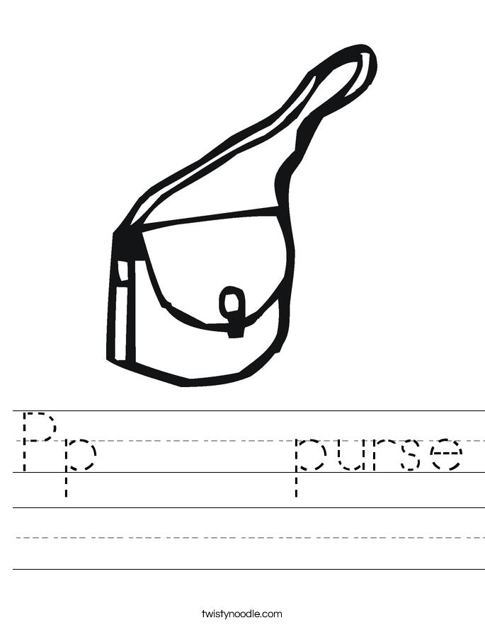 Pp     purse Worksheet