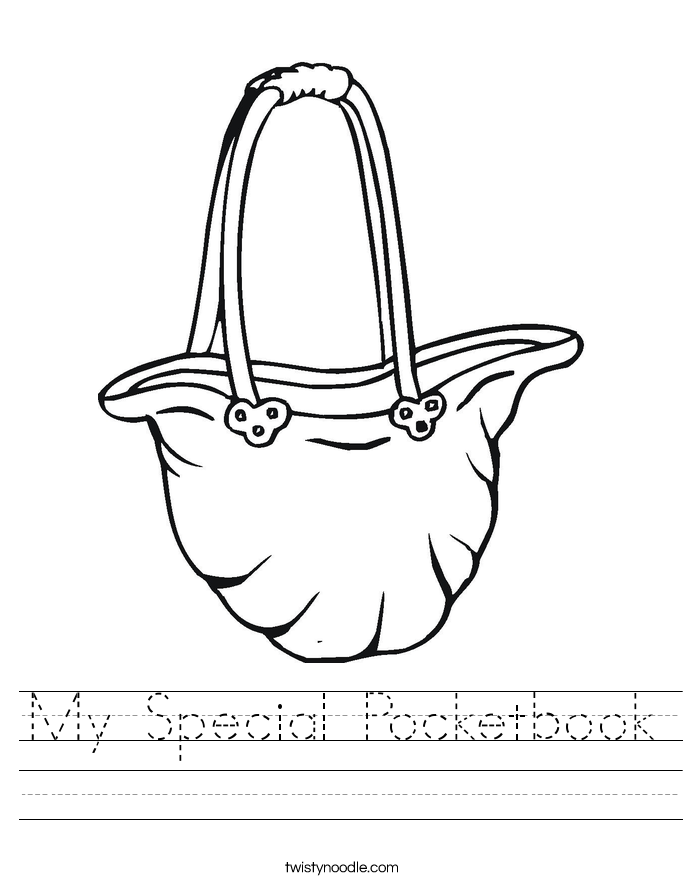 My Special Pocketbook Worksheet