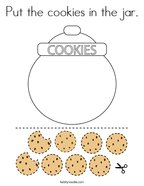 Put the cookies in the jar Coloring Page