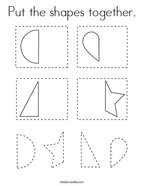 Put the shapes together Coloring Page