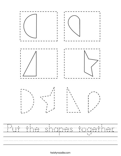 Put the shapes together. Worksheet