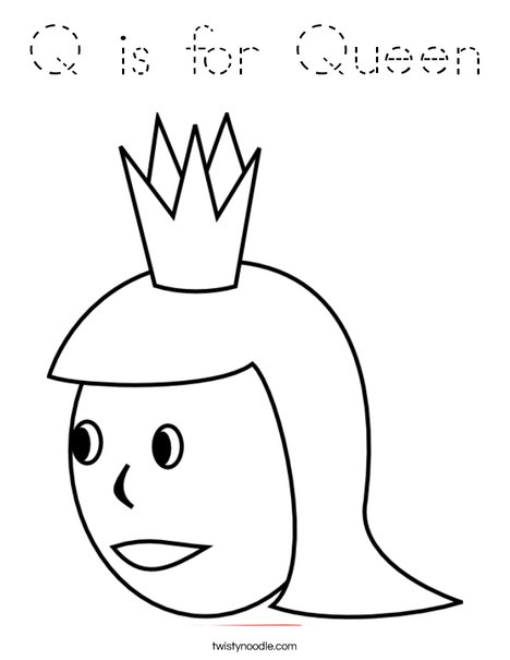 Q is for Queen Coloring Page