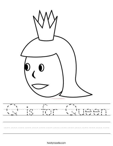 Q is for Queen Worksheet