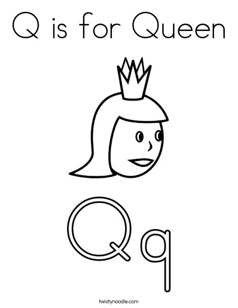 q is for queen printable coloring pages - photo #7