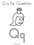 Q is for Question Coloring Page