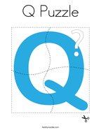Q Puzzle Coloring Page