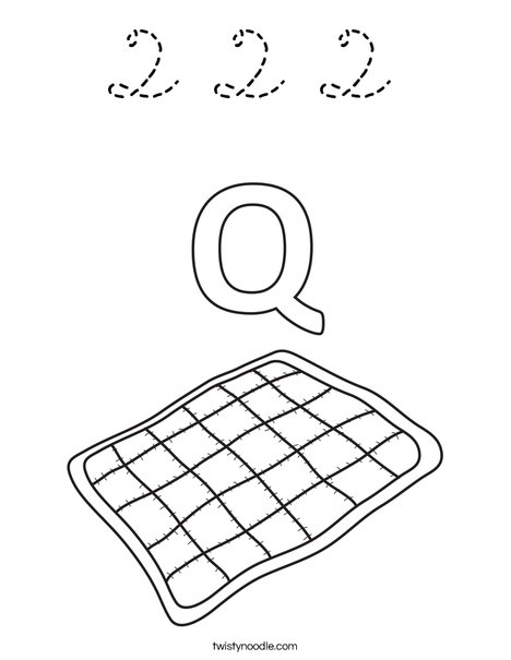 Q Quilt Coloring Page