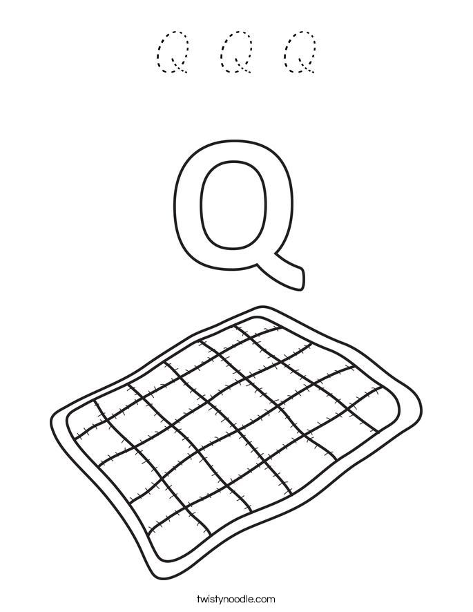 Q Q Q Coloring Page