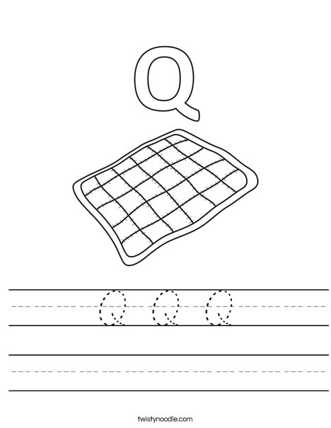 Q Quilt Worksheet