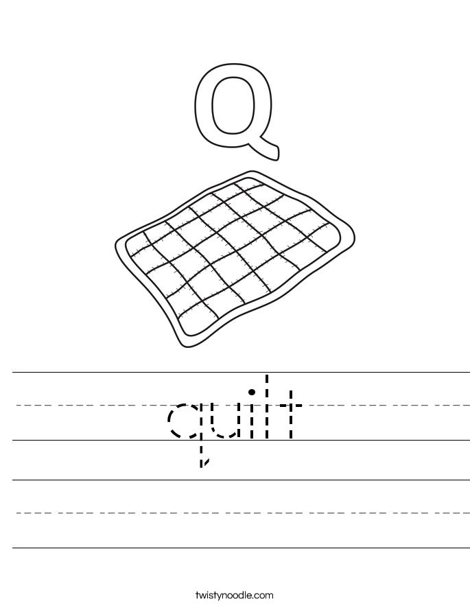 quilt Worksheet