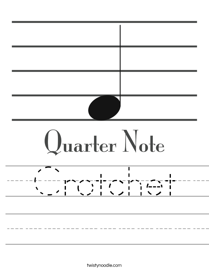 Crotchet Worksheet