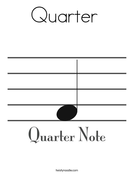 Quarter Note Coloring Page
