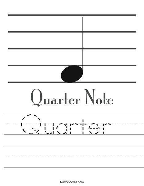 Quarter Note Worksheet